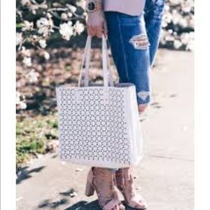 Ann Taylor Bags - Ann Taylor tote business perforated medium large